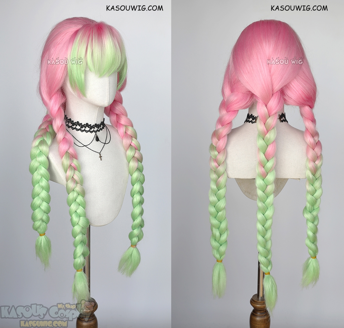 Kimetsu No Yaiba Demon Slayers Mitsuri Kanroji Thick Pink Green Cosplay Wig Zerochan has 639 kanroji mitsuri anime images, wallpapers, android/iphone wallpapers, fanart, cosplay pictures, and many more in its gallery. usd