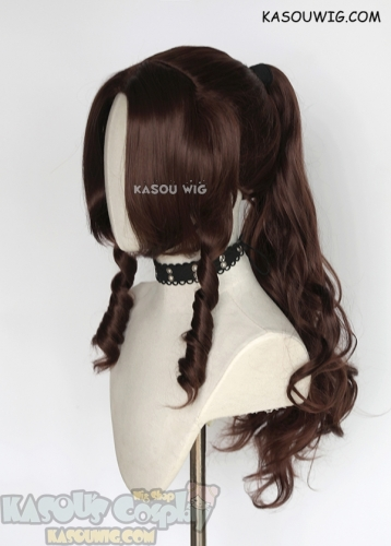 "FF7 / Final Fantasy VII Aerith Gainsborough 85cm/ 33.5"" long wavy cosplay wig"