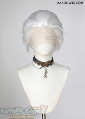 Lace Front>> Snow white all back spiky synthetic cosplay wig LFS-1