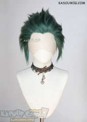 Lace Front>> Dark Olive Green all back spiky synthetic cosplay wig LFS-1