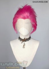 Lace Front>>Deep Pink all back spiky synthetic cosplay wig LFS-1