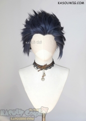 Lace Front>> Deep Blue all back spiky synthetic cosplay wig LFS-1