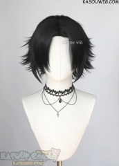 Hypnosis Mic Buster Bros!!! Yamada Jiro middle parted black layered wig