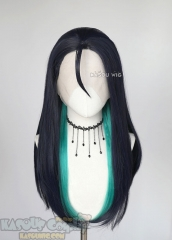 Lace Front >> League of Legends Kaisa blue green straight cosplay wig