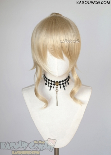 Genshin Impact Jean Gunnhildr beach blonde cosplay wig +clip on curly ponytail