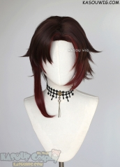 RWBY Red Ruby Rose volume 7 short brown red ombre cosplay wig