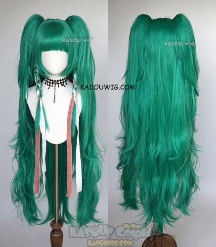 Fire Emblem Three Houses Sothis 120cm/ 47.2'' long green cosplay wig