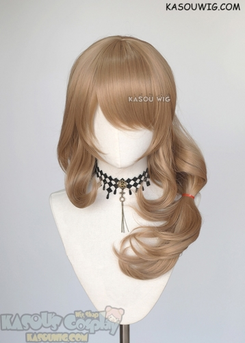 Genshin Impact Lisa 65cm long light brown curly cosplay wig