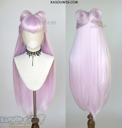 Lace Front>>League of Legends  KDA Evelynn 100cm long pink straight wig with rolls