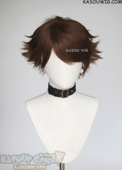 Haikyuu !! Oikawa Tooru short layers dark brown cosplay wig