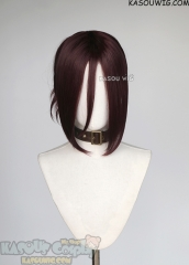 Chainsaw Man Reze purplish brown wig with pre-tied bun