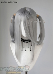 "M-2/ KA003 ┇ 50CM / 19.7"" light gray pigtail base wig with long bangs"