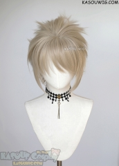 "S-5 SP02 31cm / 12.2"" short sand blonde spiky layered cosplay wig"