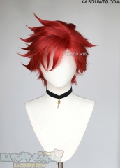 SK8 the Infinity Reki Kyan red side-parted spiky wig