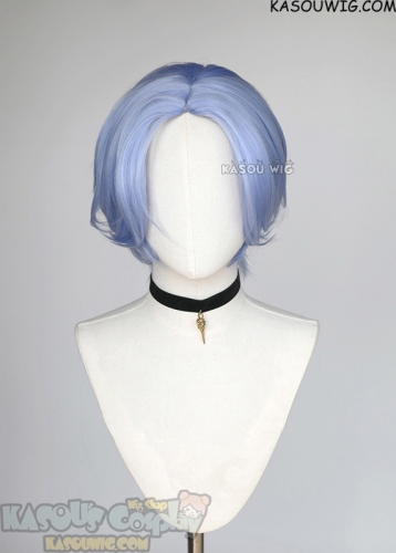 SK8 the Infinity Langa middle parting blue bob wig
